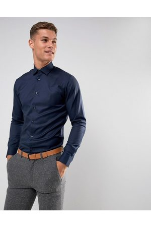 Selected Slim fit easy iron smart shirt in