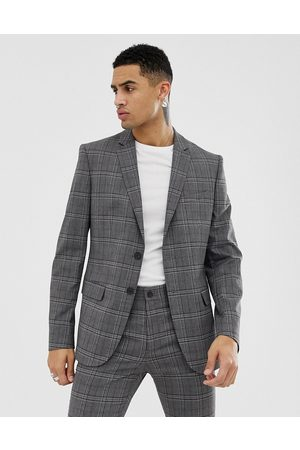 New Look Skinny fit suit jacket in check