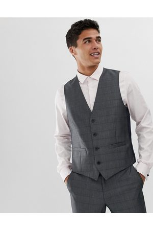 French Connection Prince of wales check slim fit waistcoat