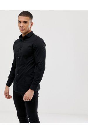 Jack & Jones Premium super slim fit stretch smart shirt in