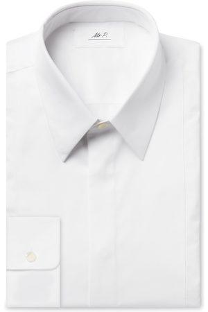 Mr P. Slim-Fit Bib-Front Cotton Tuxedo Shirt