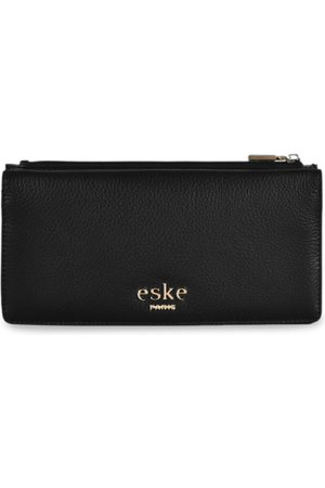 Eske Men Black Solid Two Fold Leather Wallet