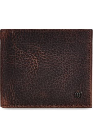 Eske Men Brown Solid Two Fold Leather Wallet