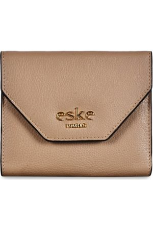 Eske Men Grey Solid Three Fold Leather Wallet