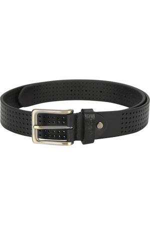 Ruosh Men Belts - Men Black Solid Leather Belt