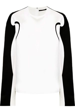 Haider Ackermann Boxy fit contrast piping top