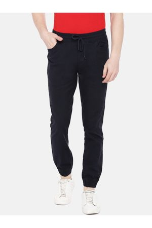PEOPLE Men Black Solid Joggers