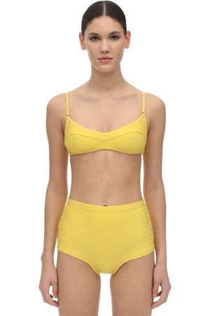 Fella Swim Solomon Tile Textured Lycra Bikini Top