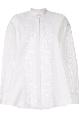 Giambattista Valli Women Long Sleeve - Appliqué band-collar shirt