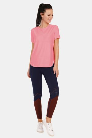 Amante Easy Movement Moisture Wicking Seamless T Shirt