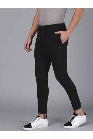 WROGN Men Black Solid Slim Fit Joggers