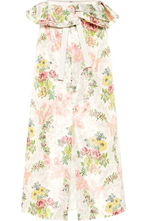 BROCK COLLECTION Exclusive to Mytheresa – Peplum floral silk-blend skirt