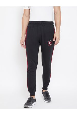 ACTIMAXX Men Black Solid Slim Fit Fashion Joggers