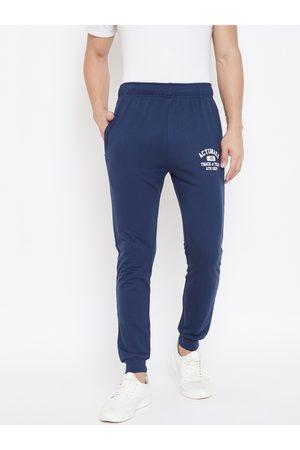 ACTIMAXX Men Navy Blue Solid Slim fit Joggers
