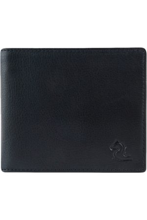 KARA Men Black Solid Two Fold Leather Wallet