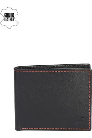Fastrack Men Black Genuine Leather Wallet