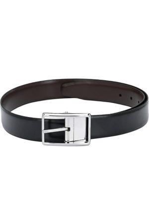 Pacific Men Black & Brown Solid Leather Reversible Belt