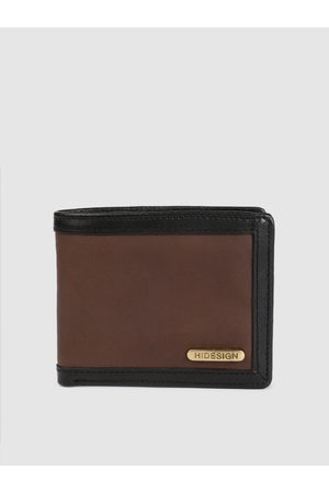 Hidesign Men Brown Solid Two Fold Leather Wallet