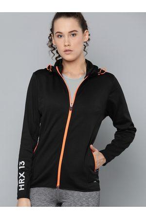 HRX by Hrithik Roshan Women Sports Jackets - Women Black Solid Training Jackets