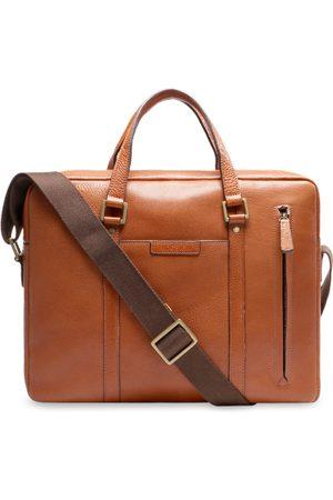 Hidesign Men Tan Brown Solid Laptop Leather Bag