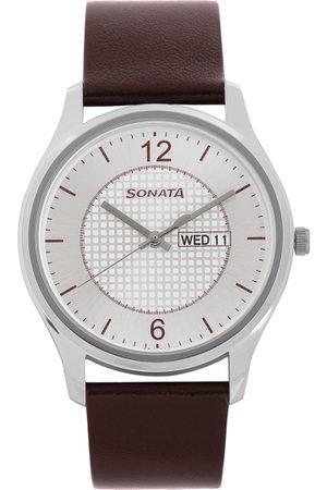 Sonata Essentials Men Silver Analogue watch 77082SL02