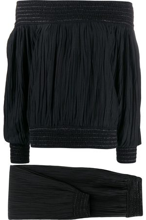 Issey Miyake Women Sets - 1970s gathered top and trousers set