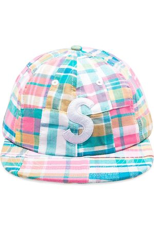 Supreme Patchwork Madras S Logo 6-Panel cap