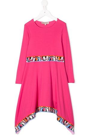Emilio Pucci Graphic trim asymmetric dress