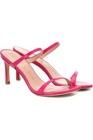 Stuart Weitzman Women Sandals - Aleena 75 leather sandals