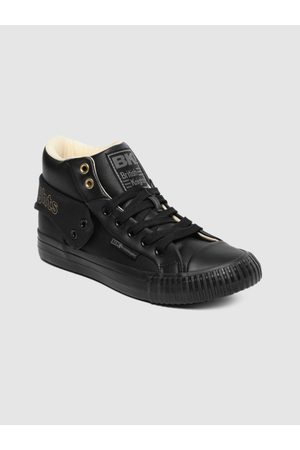 British Knights Women Black Solid ROCO SNT Mid-Top Sneakers