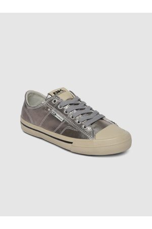British Knights Women Silver-Toned Sneakers