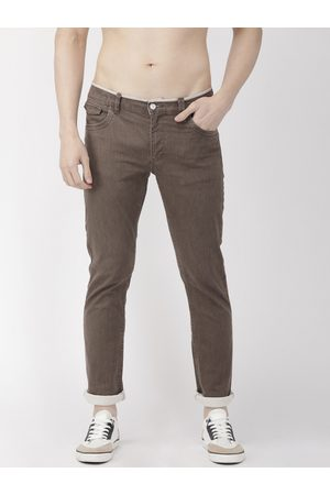 Flying Machine Men Brown Regular Fit Solid Trousers