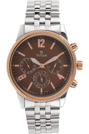 Titan Men Brown Analogue Watch 1734KM03
