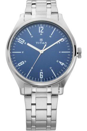 Titan Men Blue Analogue Watch 1802SM02