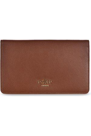 Eske Men Brown Solid Two Fold Leather Wallet