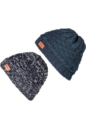 Knotyy Men Blue Solid Beanie