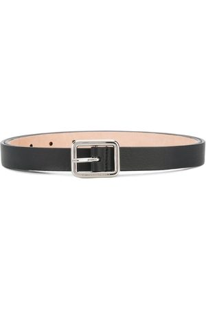 Alexander McQueen Leather silver buckle belt