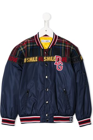 Dolce & Gabbana Panelled logo patch bomber jacket