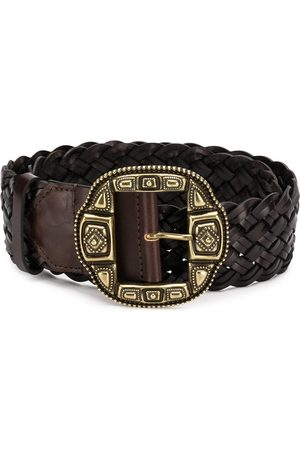 Etro Woven statement buckle belt