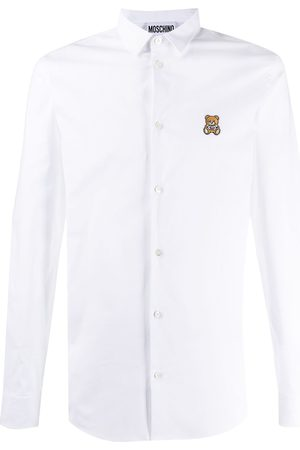 Moschino Men Long Sleeve - Teddy patch shirt