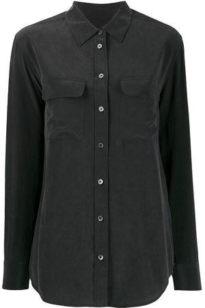 Equipment Patch-pocket crepe de Chine shirt