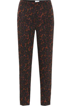 Erdem Gianna leopard-print cigarette pants