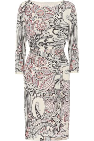 Etro Paisley-print crêpe dress