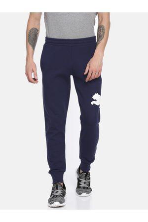 Puma Men Navy Blue Printed Straight Fit Modern Sports FL Joggers