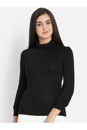 COVER STORY Women Black Solid Top
