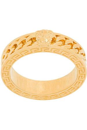 VERSACE Men Rings - Chained medusa ring