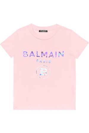 Balmain Girls T-shirts - Logo cotton T-shirt