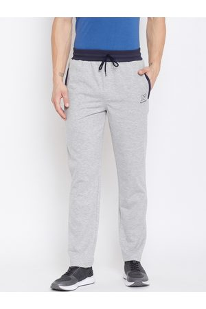 KROSSSTITCH Men Grey Self-Design Slim Fit Track Pants