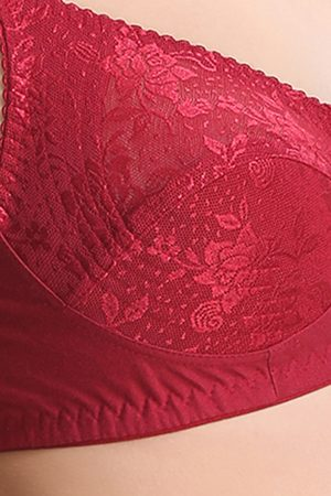 Leading Lady Double Layered Wirefree Super Support Bra Maroon