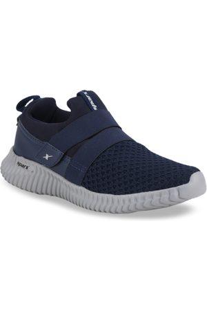 Sparx Men Navy Blue Mesh Running Shoes